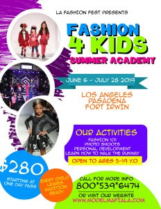 FASHION 4 KIDS SUMMER ACADEMY