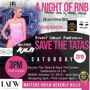 LAFW BREAST CANCER AWARENESS  FASHION SHOW HOSTED BY MAXINE WATERS AND STILL I RISE CANCER SOCIETY @ Writers Guild Theater in Beverly Hills