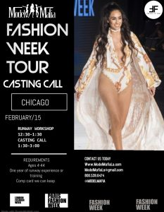 FASHION WEEK TOUR :Chicago CASTING AND RUNWAY WORKSHOP