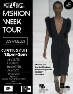 FASHION WEEK TOUR :LA CASTING AND RUNWAY WORKSHOP