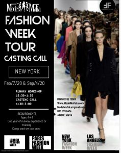 FASHION WEEK TOUR :NY CASTING AND RUNWAY WORKSHOP